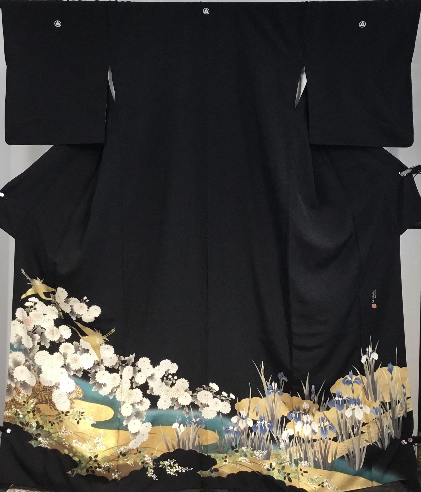JTO027白菊に菖蒲金箔