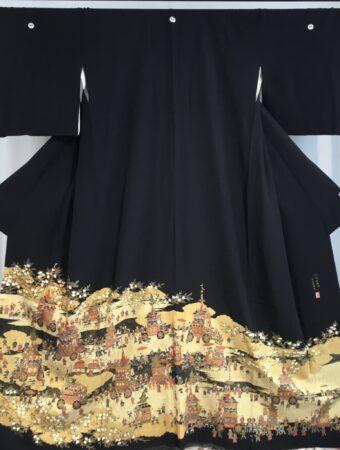 JTO072本金箔祇園祭風景図